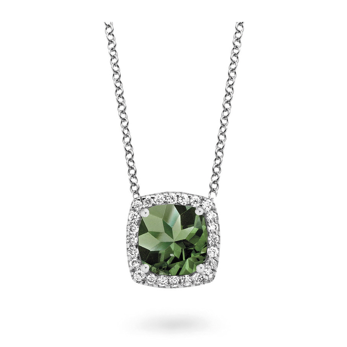 etna necklace in white gold
