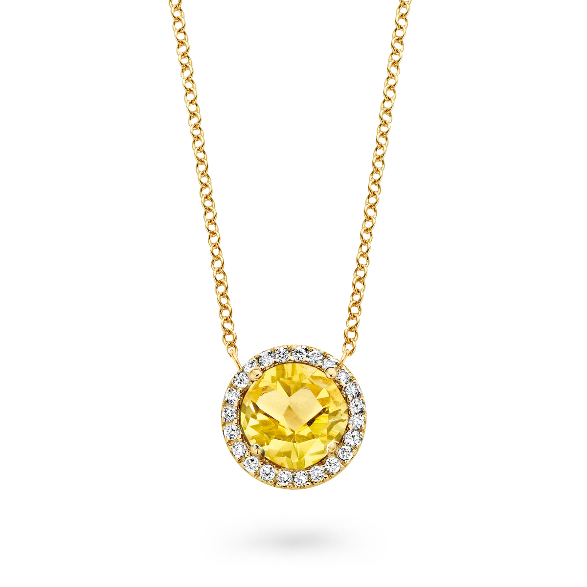 etna necklace in yellow gold