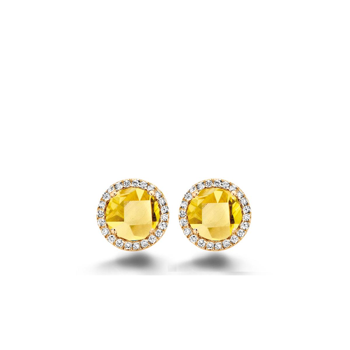 etna earrings in yellow gold