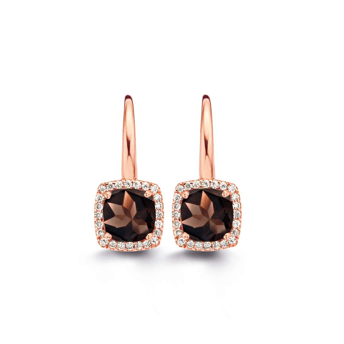 etna earrings in rose gold
