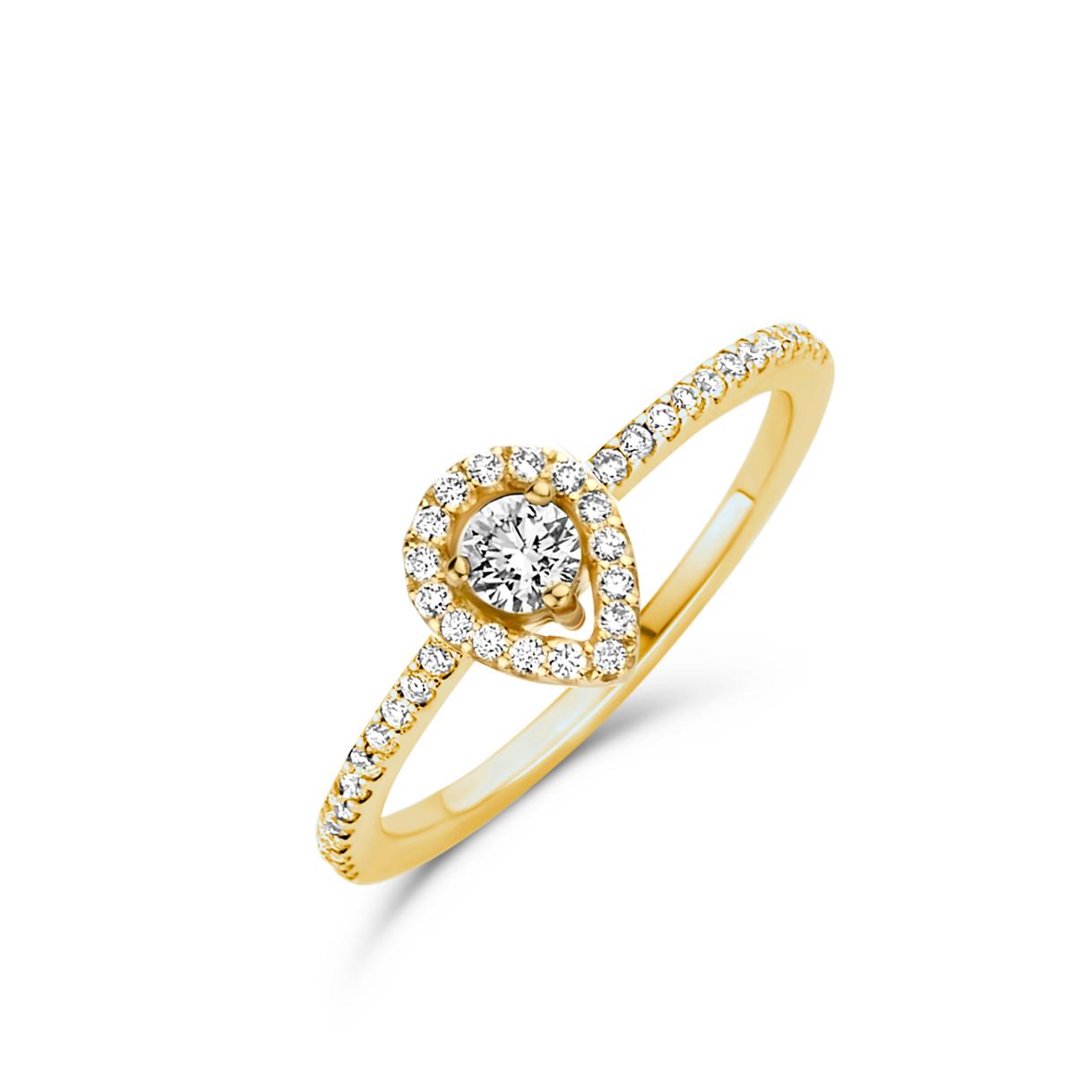 salina ring in yellow gold
