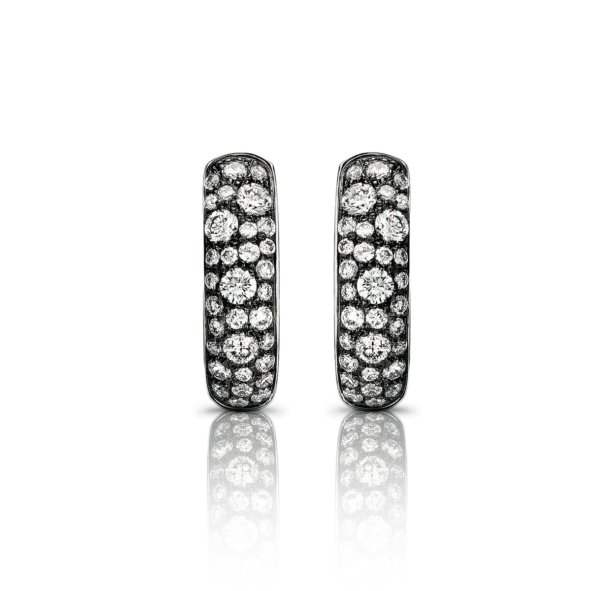 panarea earrings in white gold