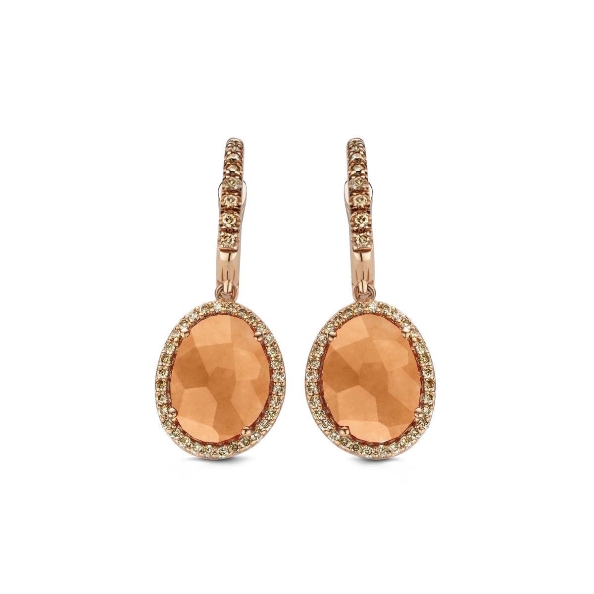 stromboli earrings in rose gold