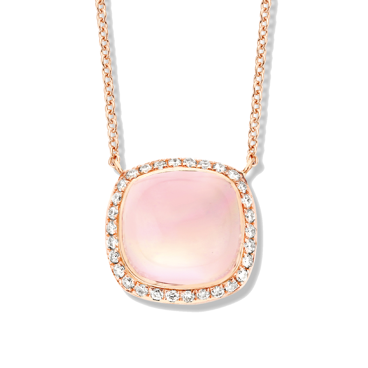 amiata necklace in rose gold