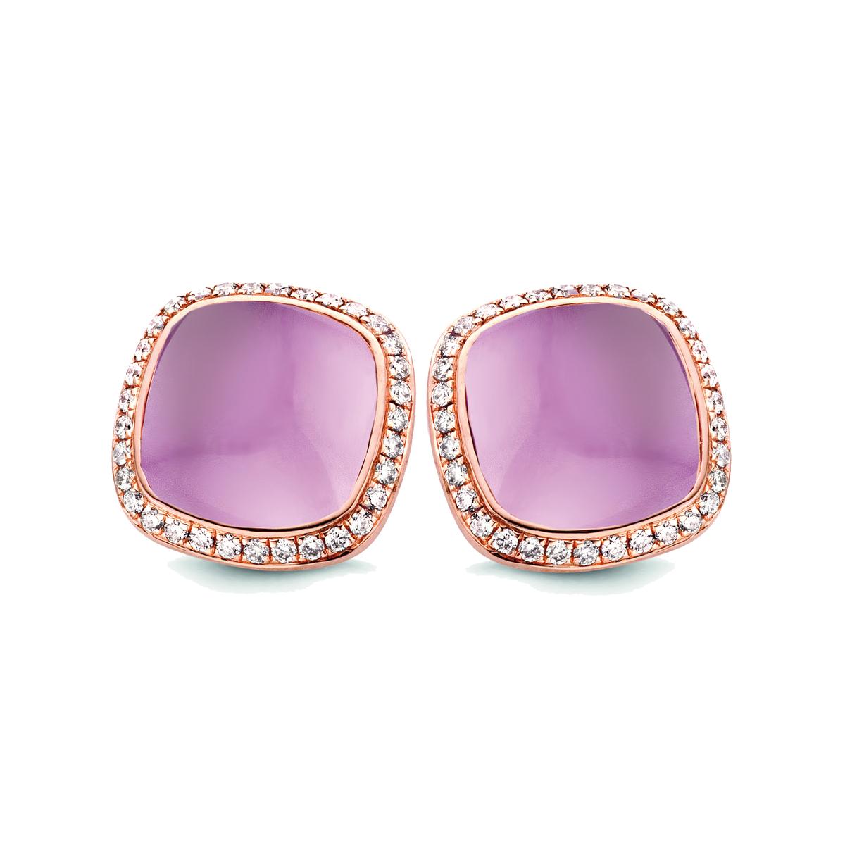 amiata boucles d'oreilles en rose or