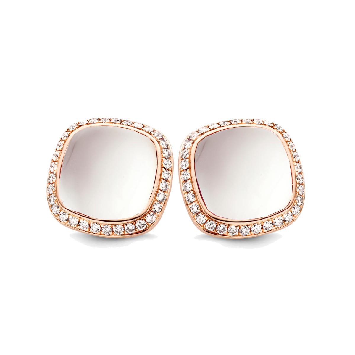 amiata earrings in rose gold
