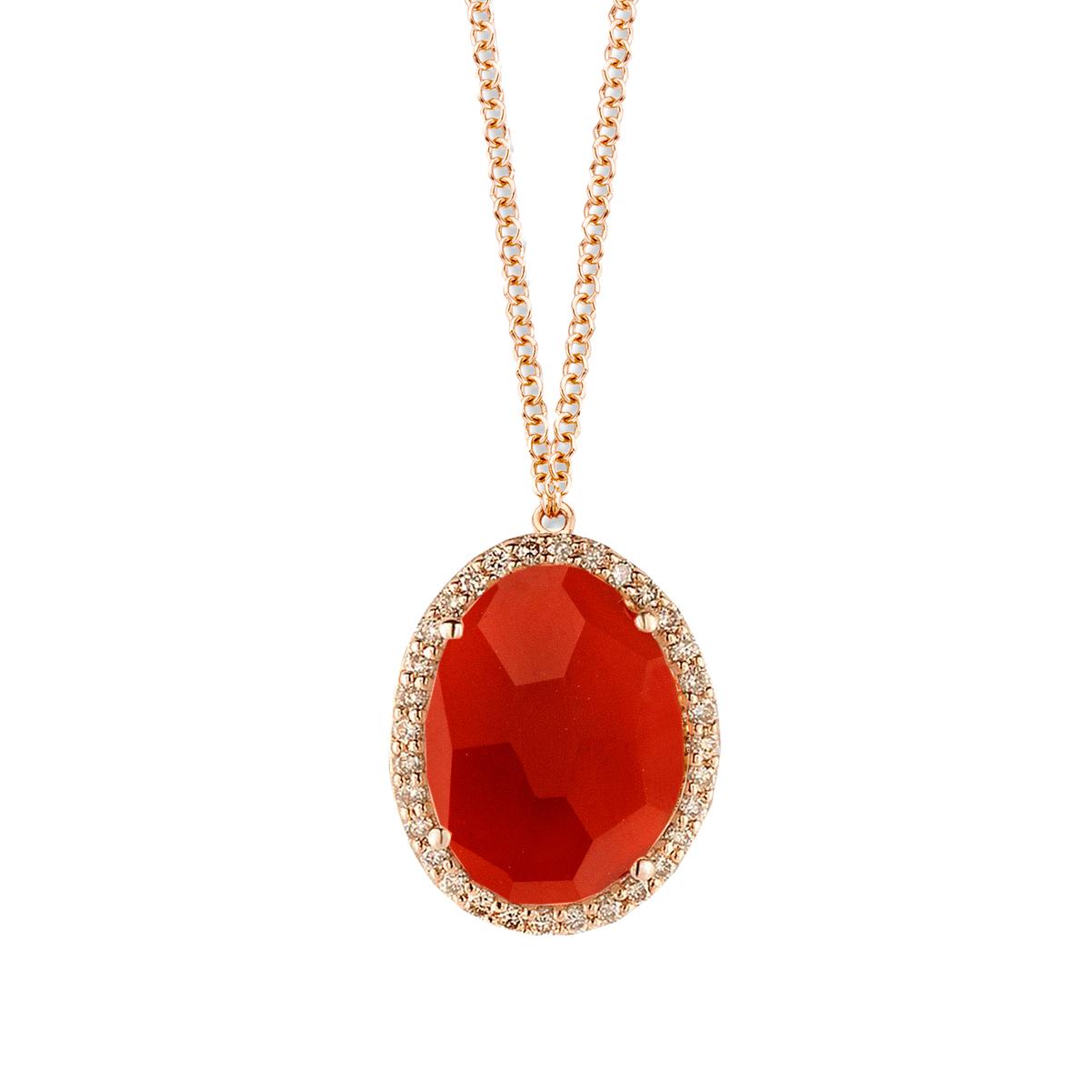 stromboli necklace in rose gold