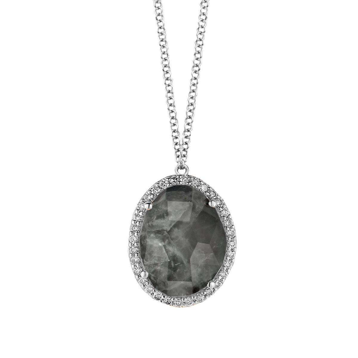 stromboli necklace in white gold