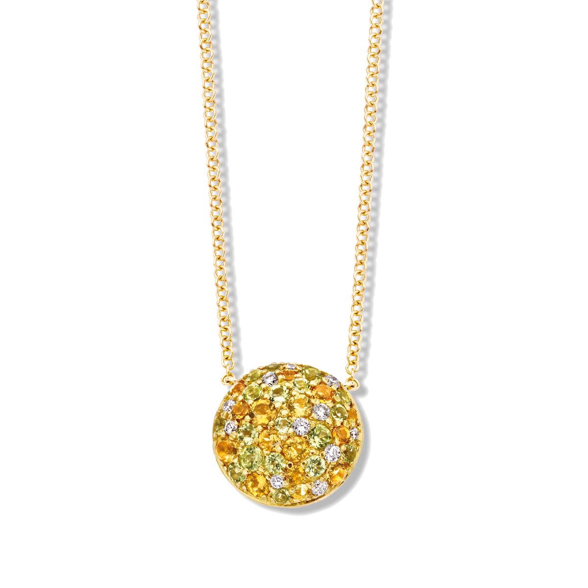 panarea necklace in yellow gold
