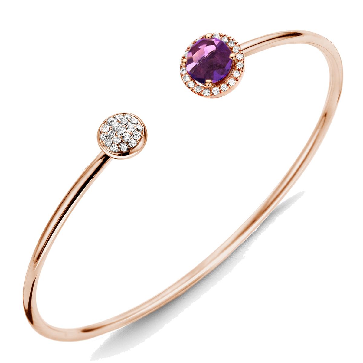etna bracelet in rose gold