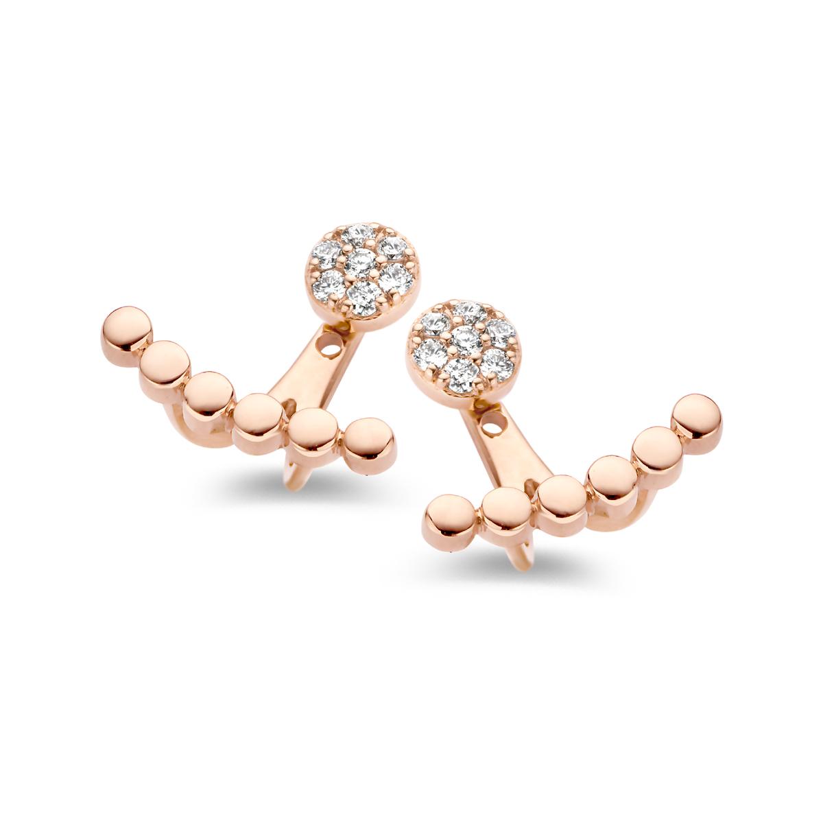 ischia earrings in rose gold
