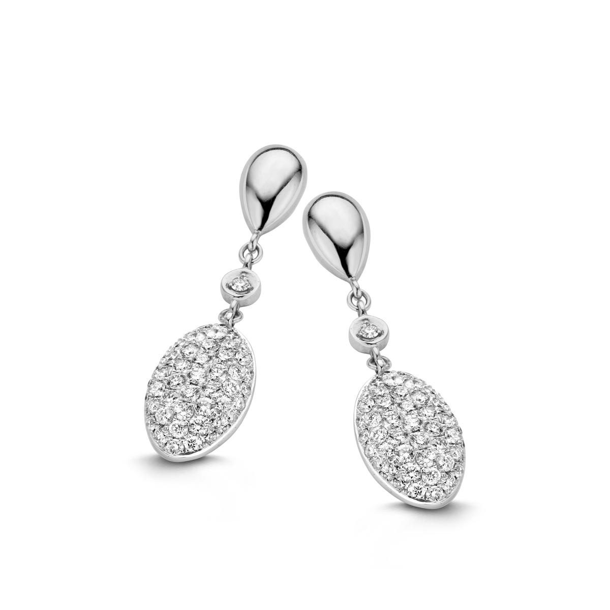 vulsini earrings in white gold