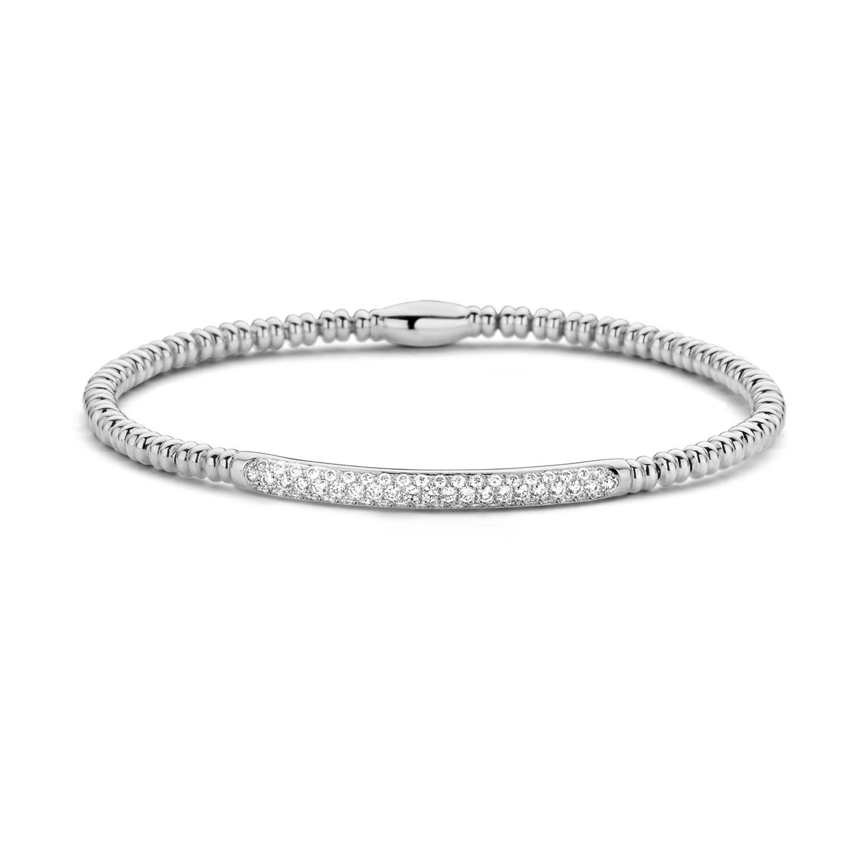 ischia basics bracelet in white gold