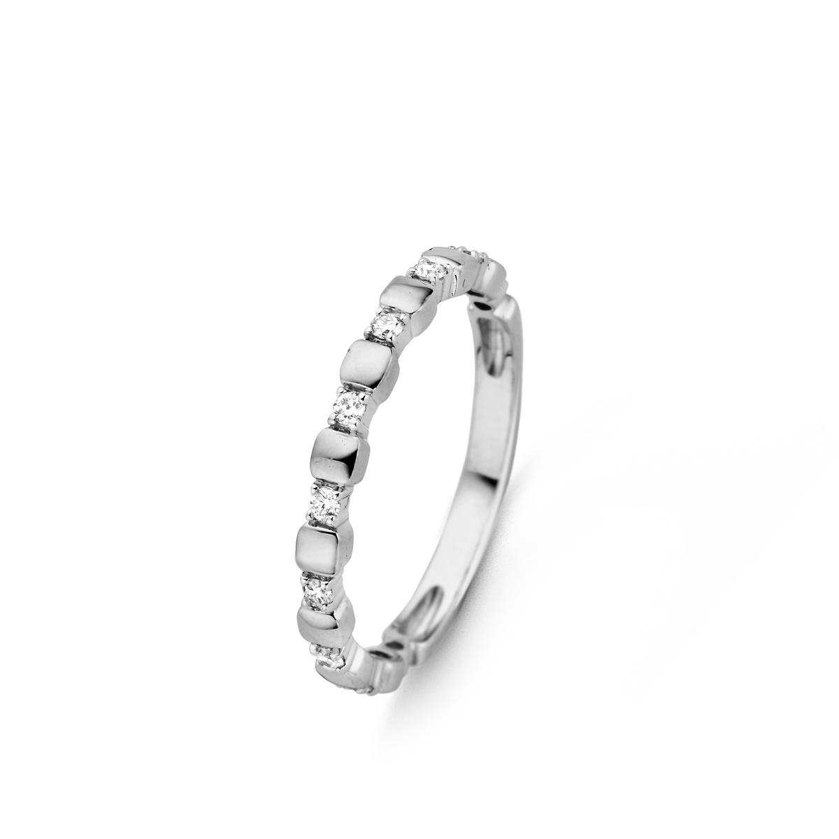 ischia basics ring in white gold