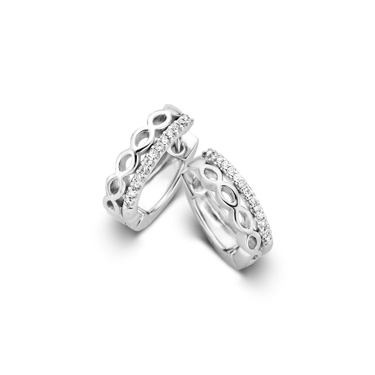 ischia earrings in white gold