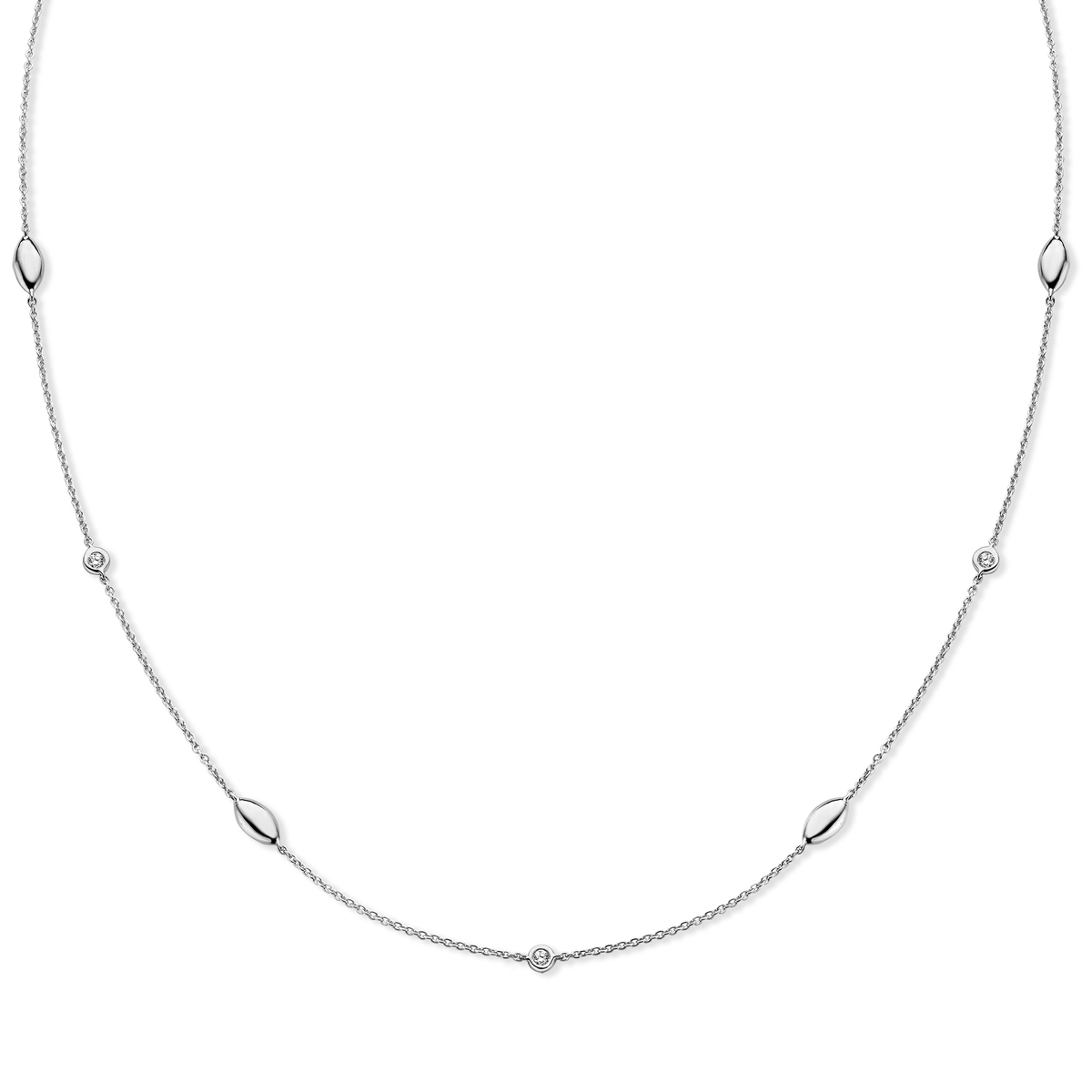 vulsini necklace in white gold