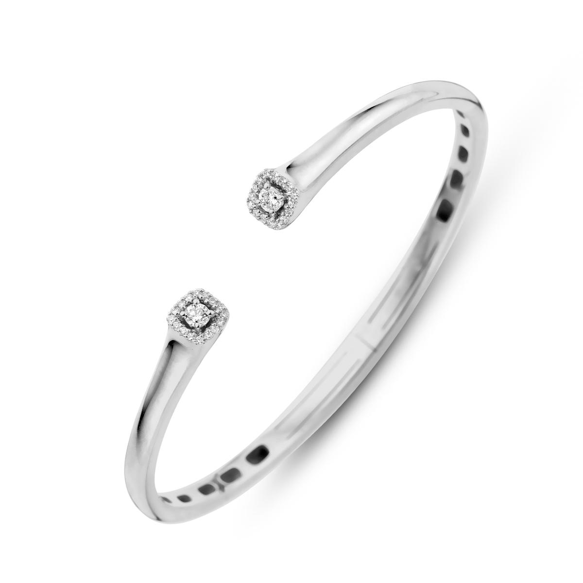 salina bracelet in white gold