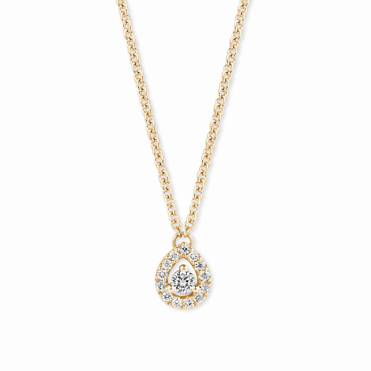 salina necklace in yellow gold
