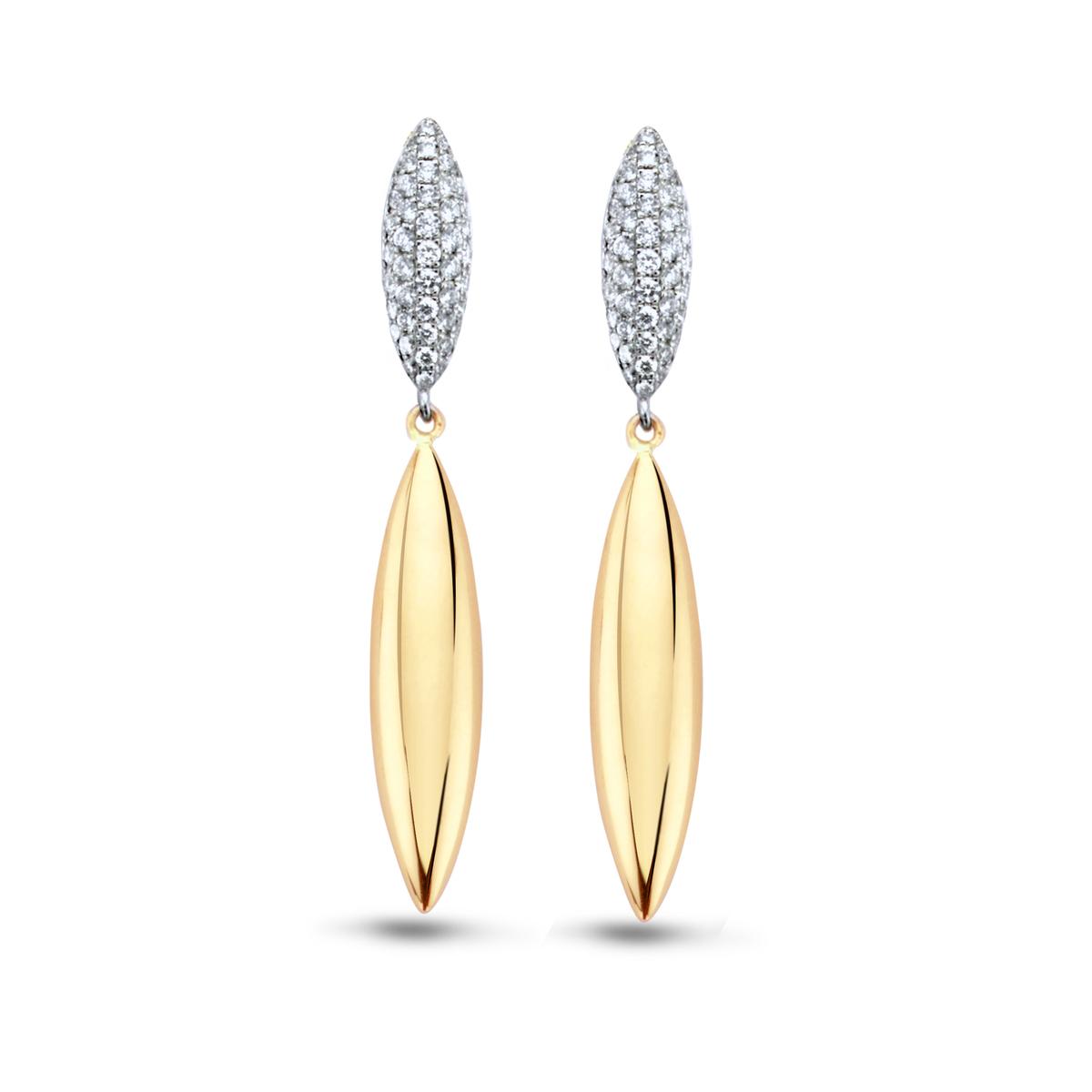 vulsini earrings in yellow gold