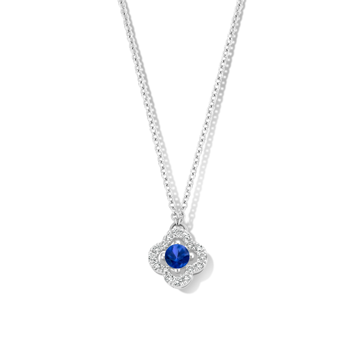 salina necklace in white gold