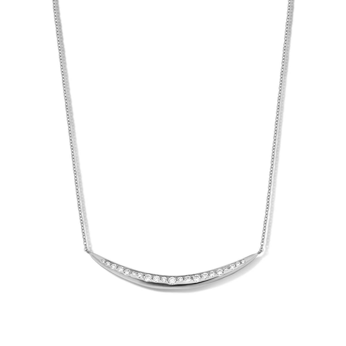ischia basics necklace in white gold