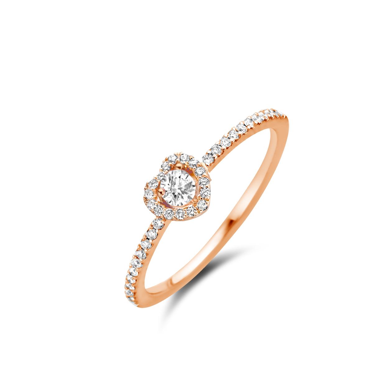 salina ring in rose gold