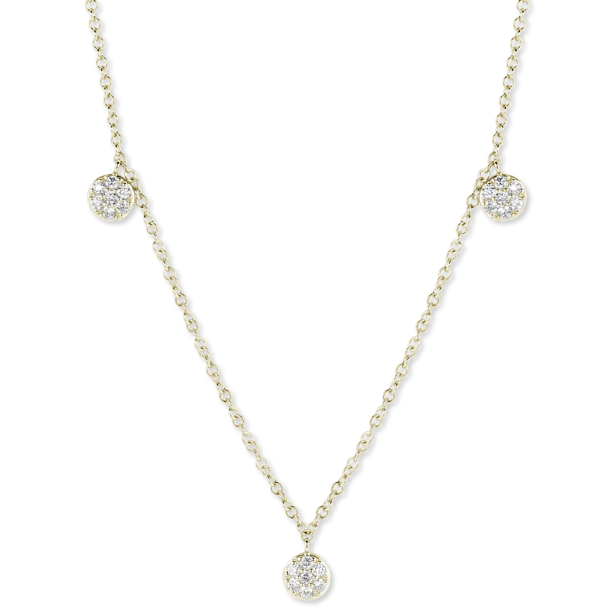 eolo necklace in yellow gold