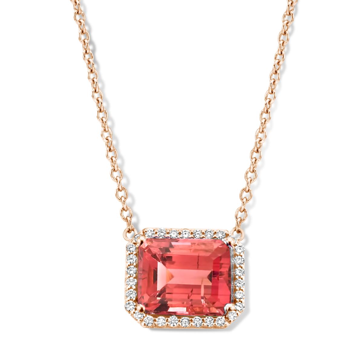 etna necklace in rose gold