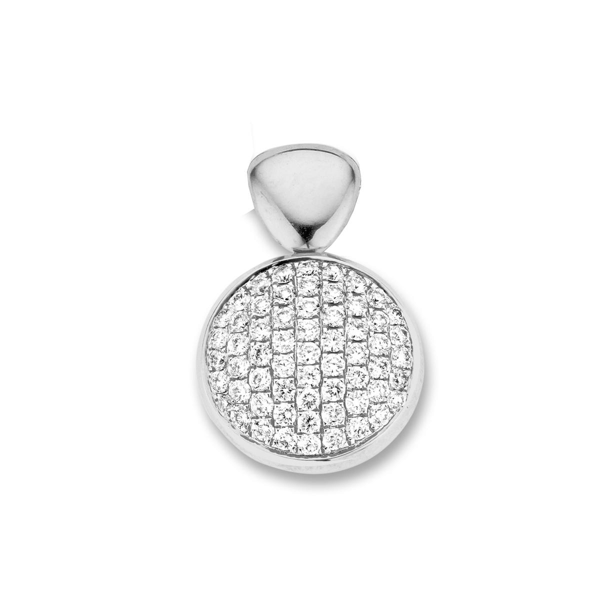 vulsini pendant in white gold