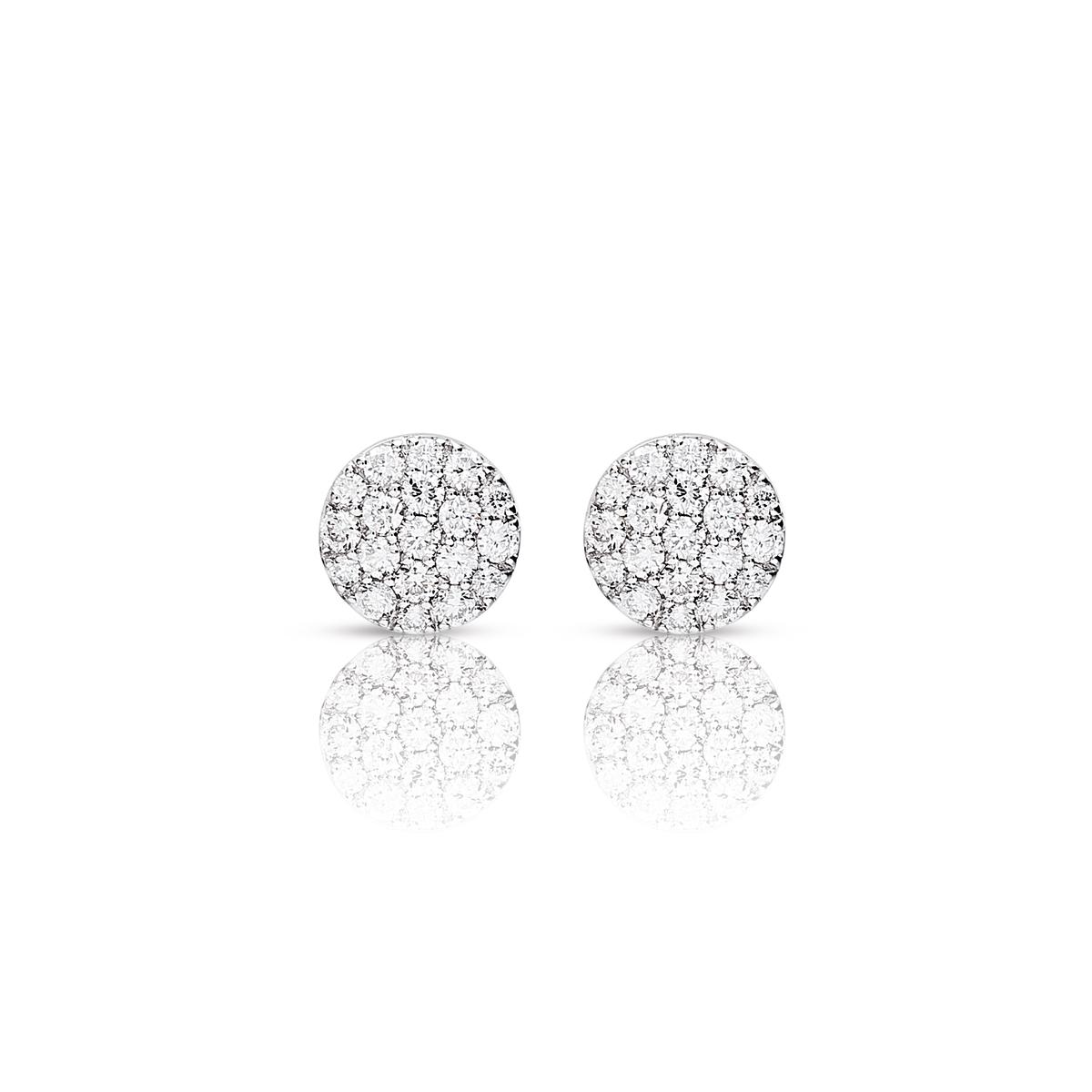 eolo earrings in white gold