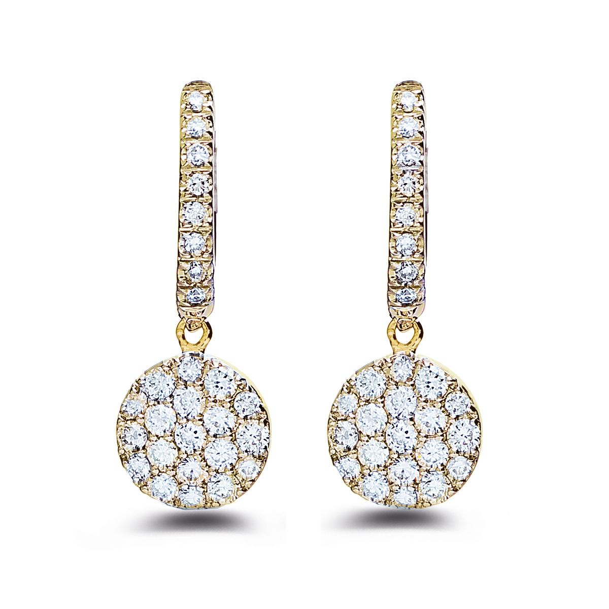 eolo earrings in yellow gold