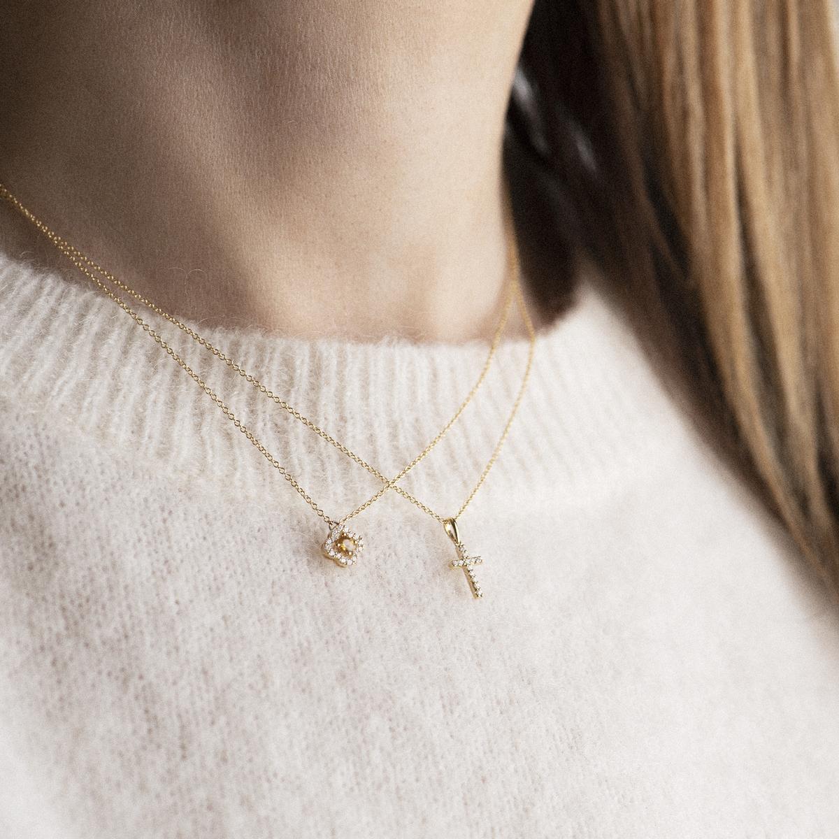 ischia basics pendant in yellow gold
