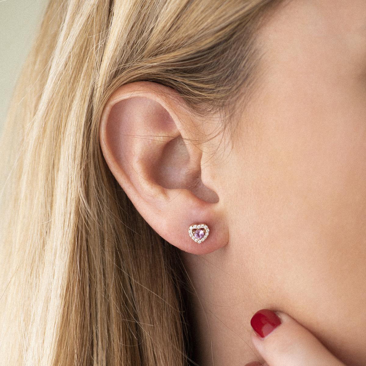 salina earrings in rose gold
