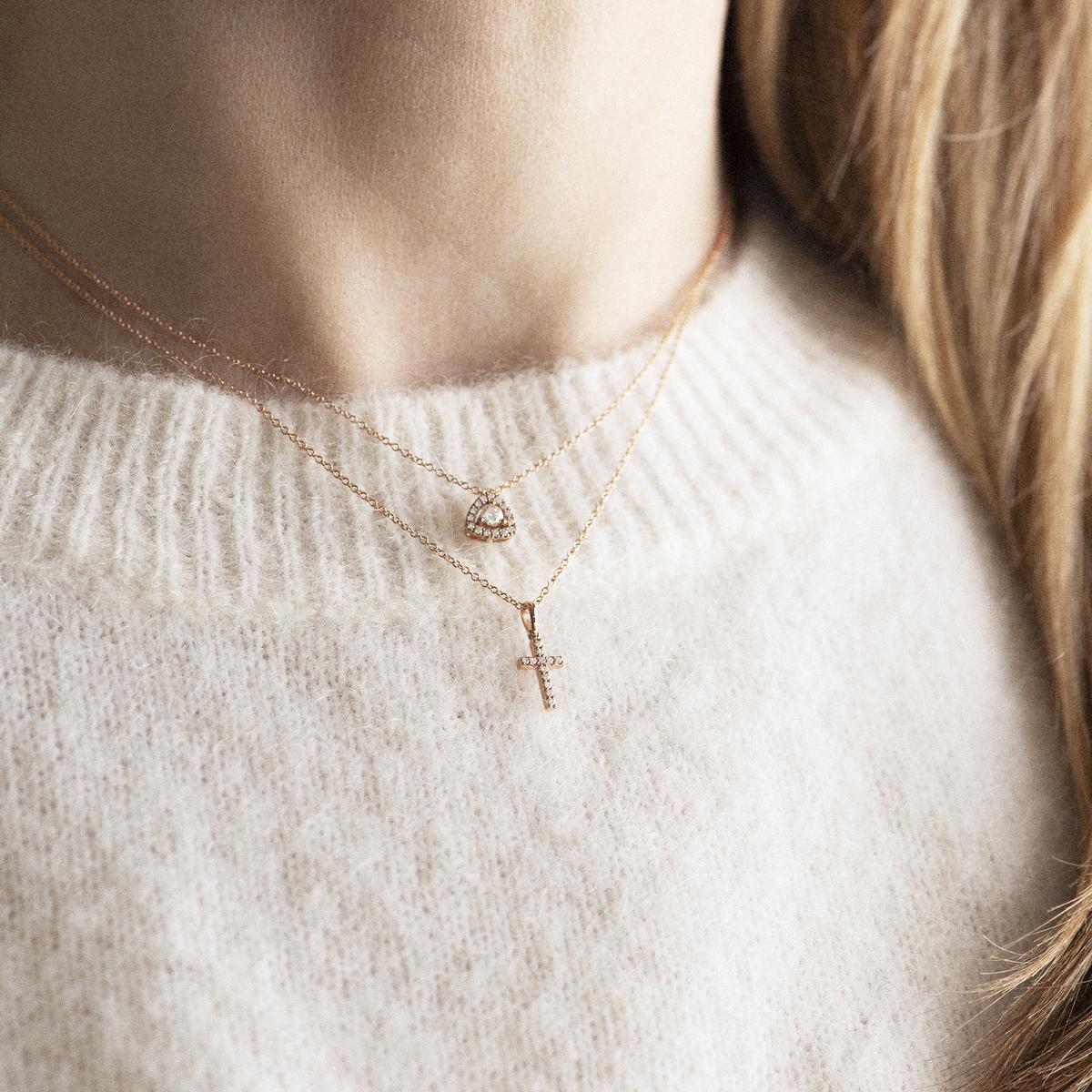 ischia basics pendant in rose gold