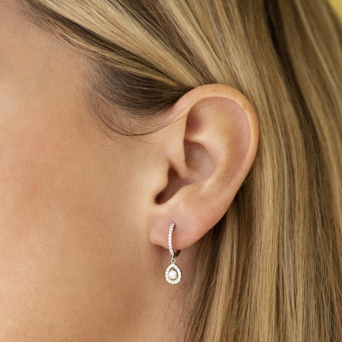 salina earrings in white gold