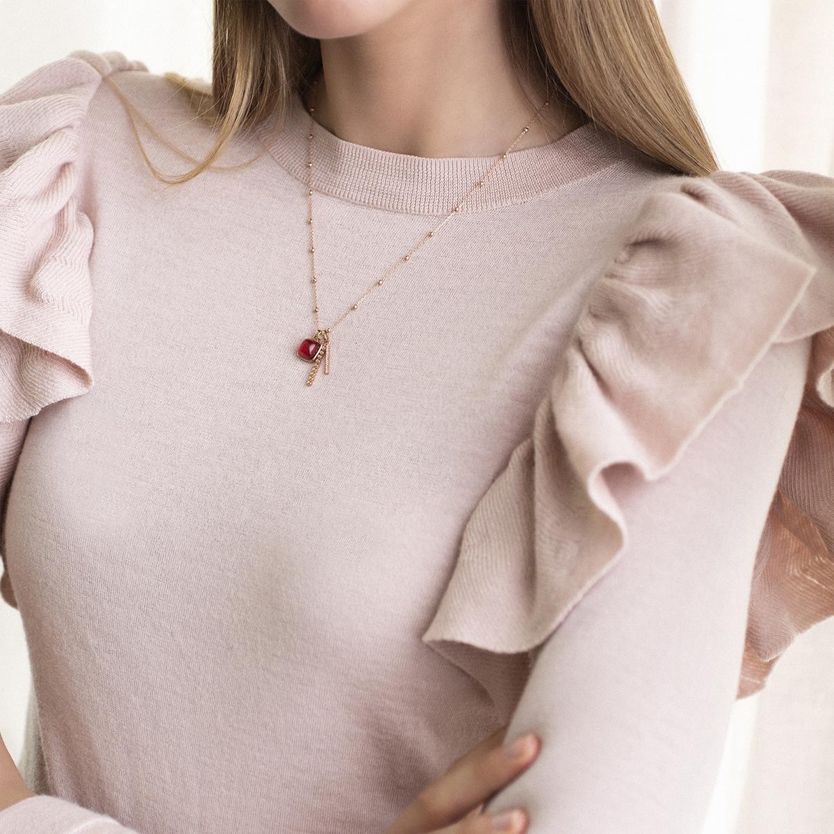 pantelleria pendant in rose gold