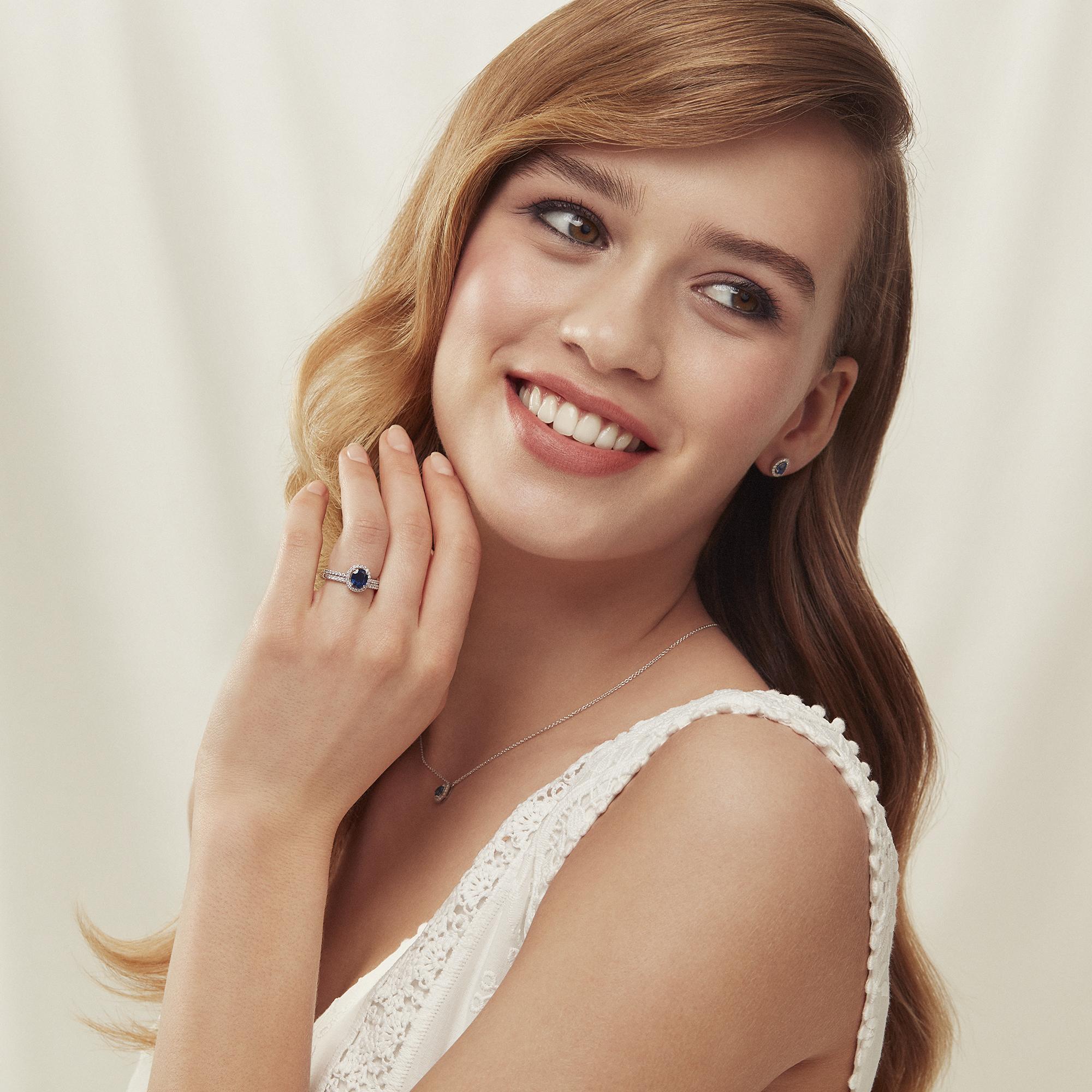 salina ring in Weiß gold