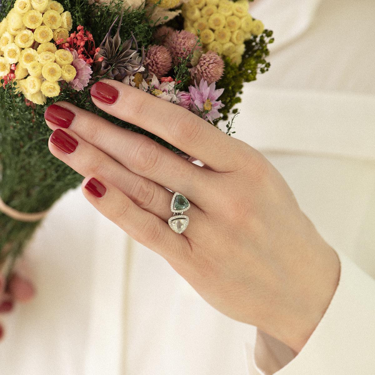 etna ring in white gold