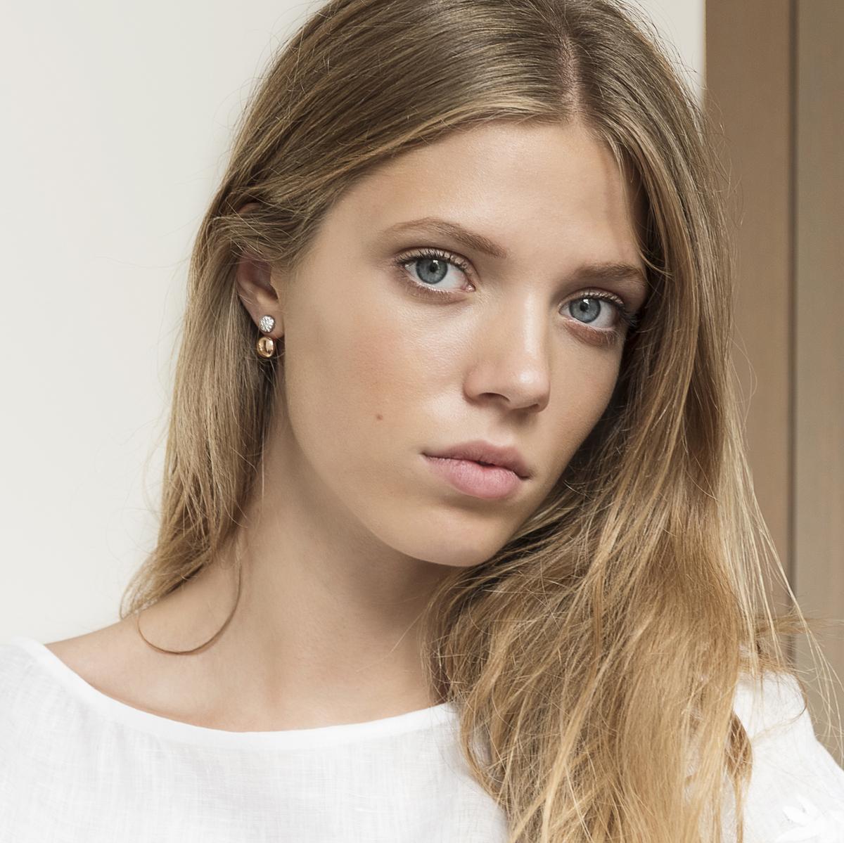 vulsini earrings in rose gold