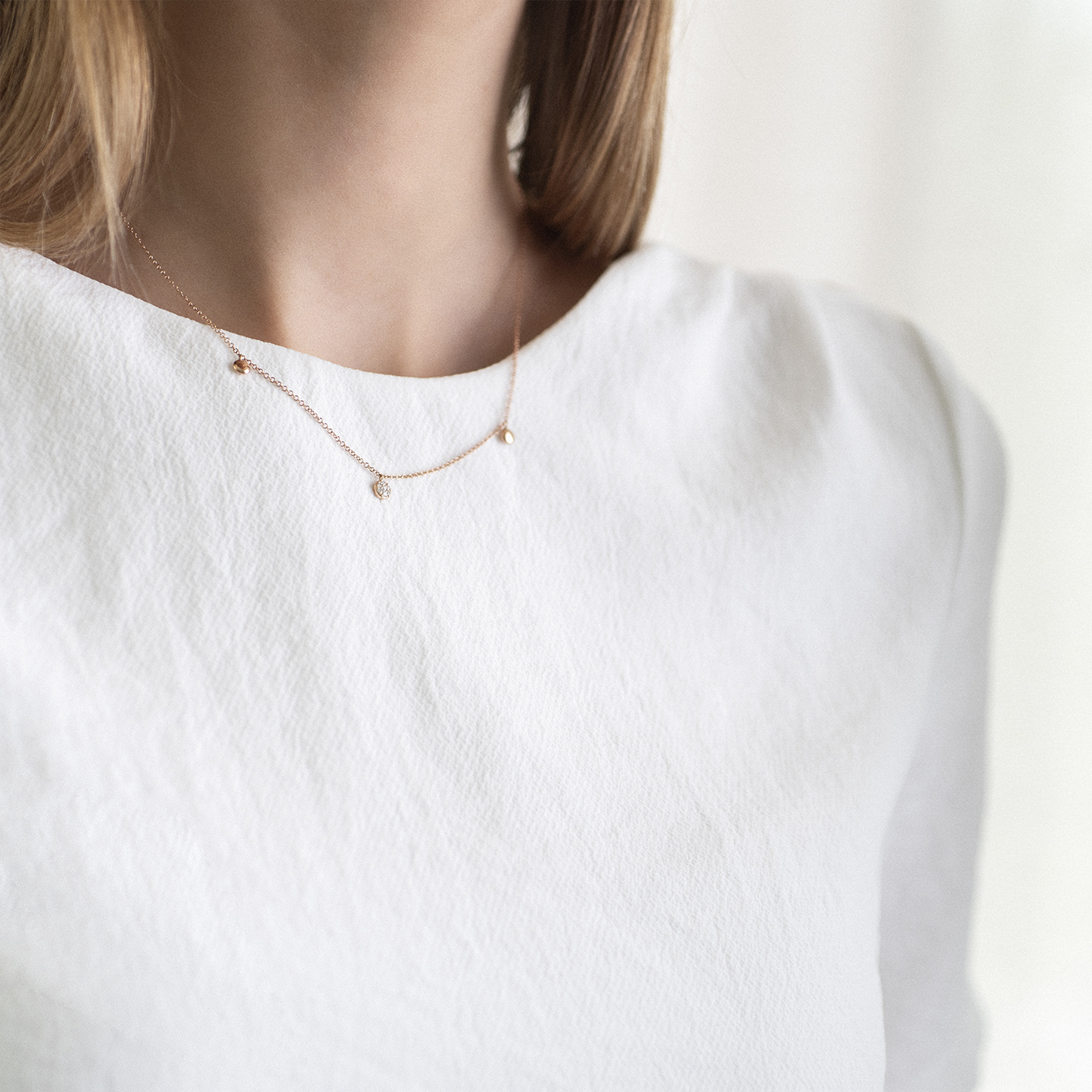 eolo necklace in rose gold