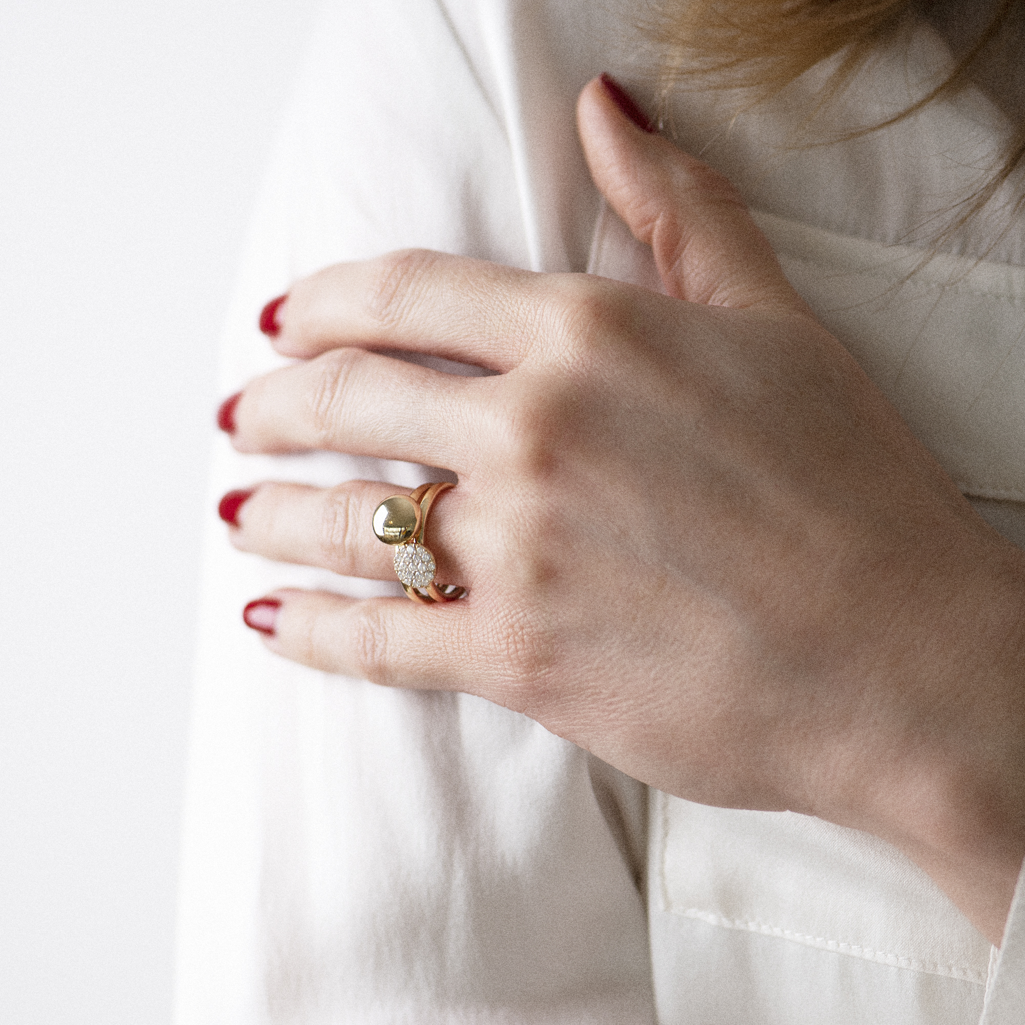 eolo ring in yellow gold