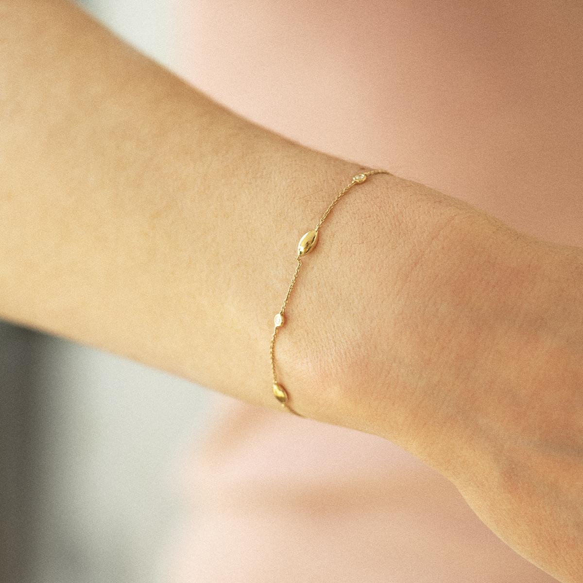 vulsini bracelet in white gold