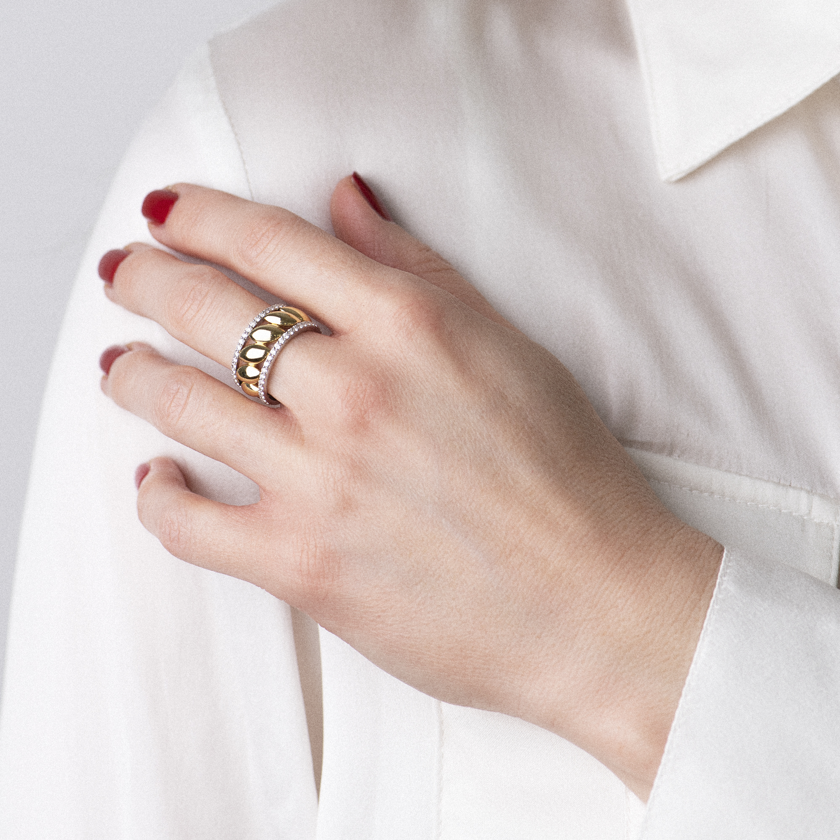 vulsini ring in Rosa gold