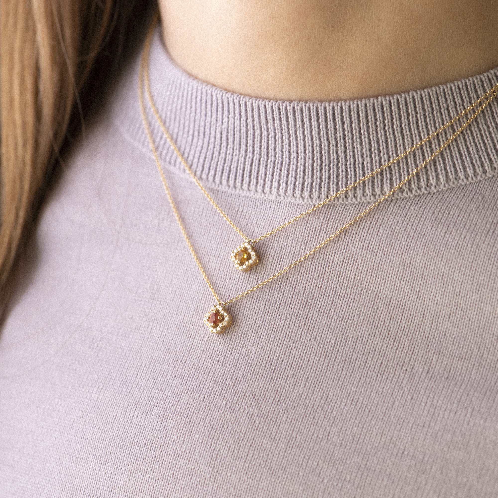 salina necklace in rose gold