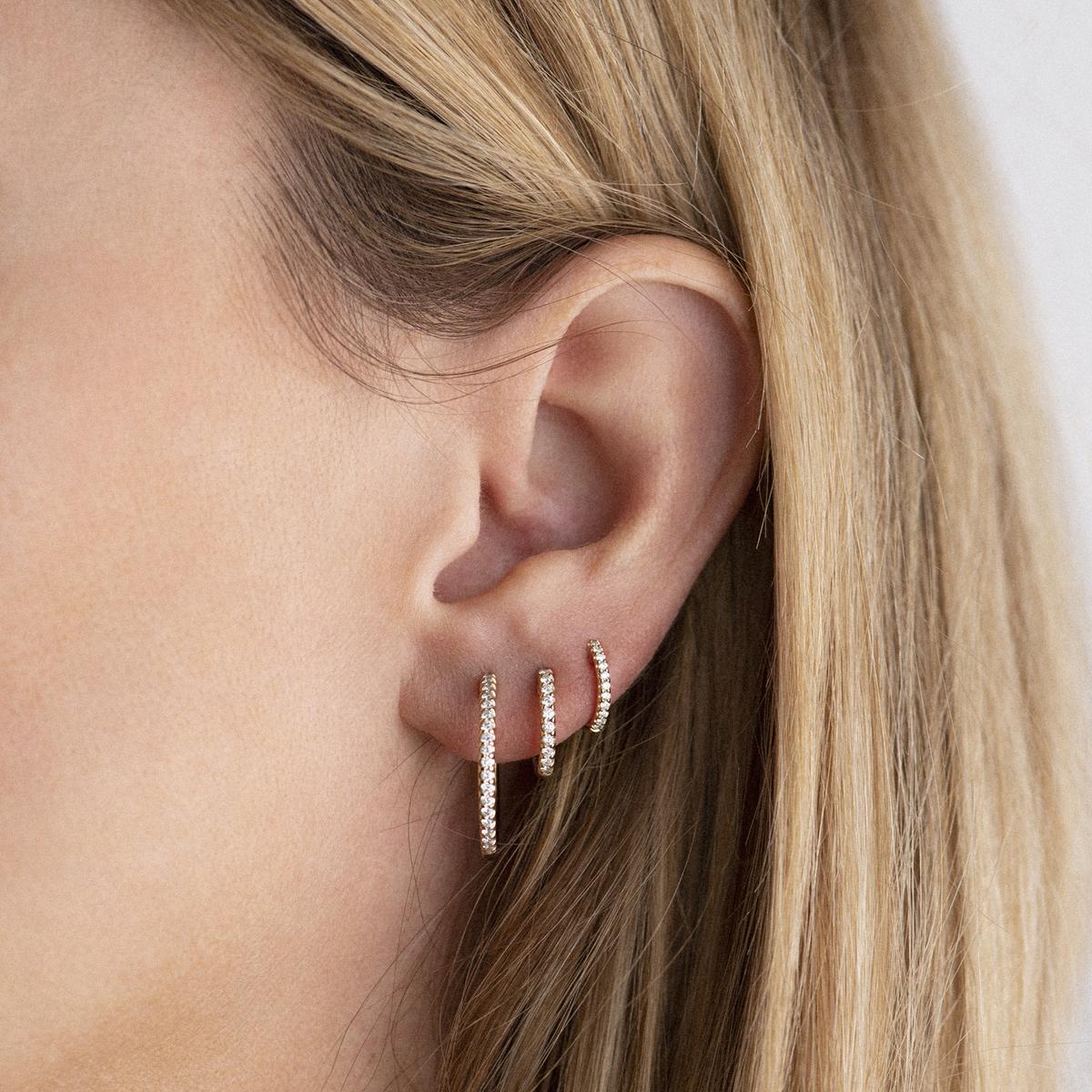ischia basics earrings in white gold