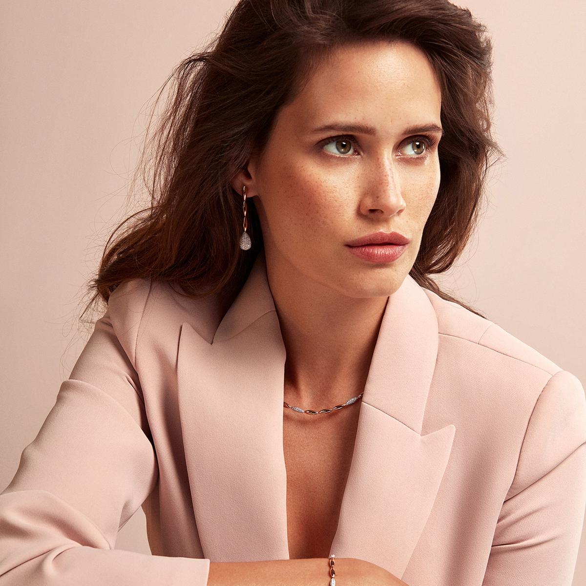 vulsini necklace in rose gold
