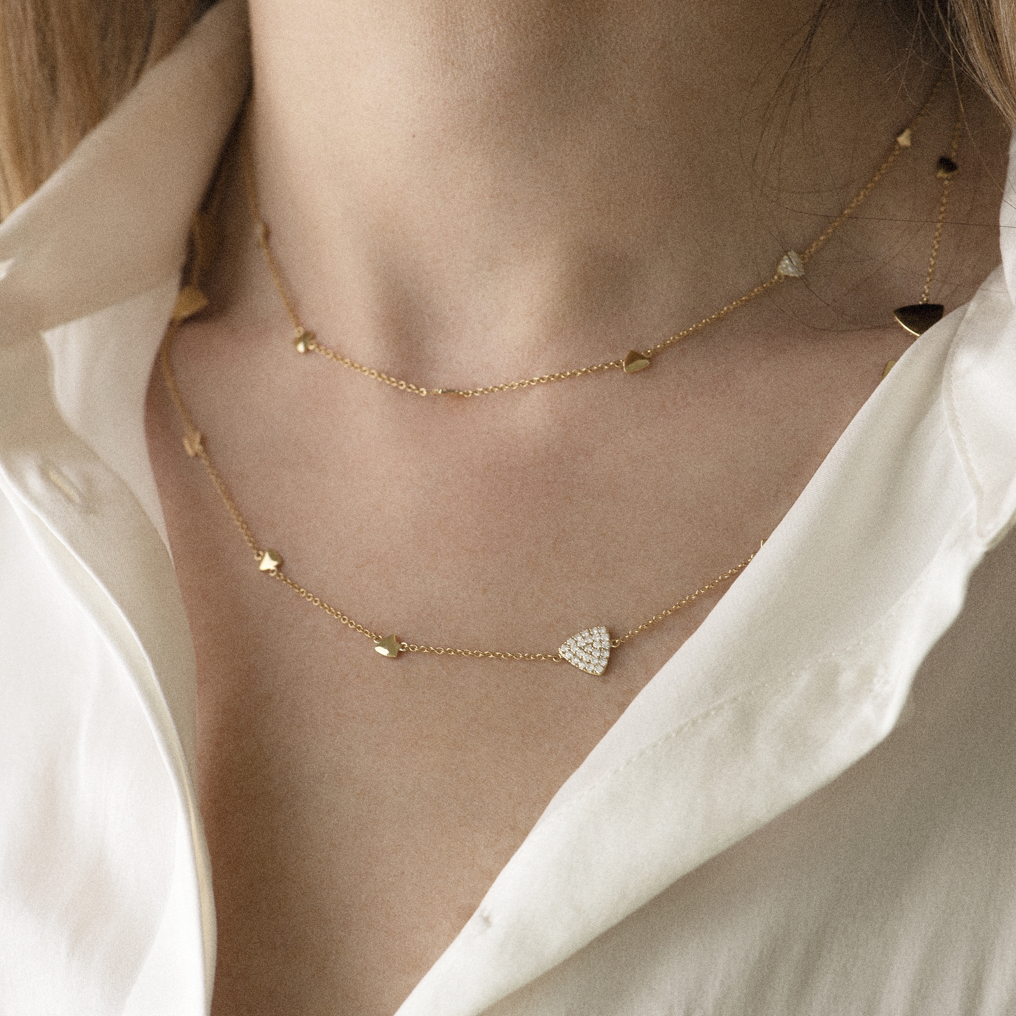 eolo necklace in white gold