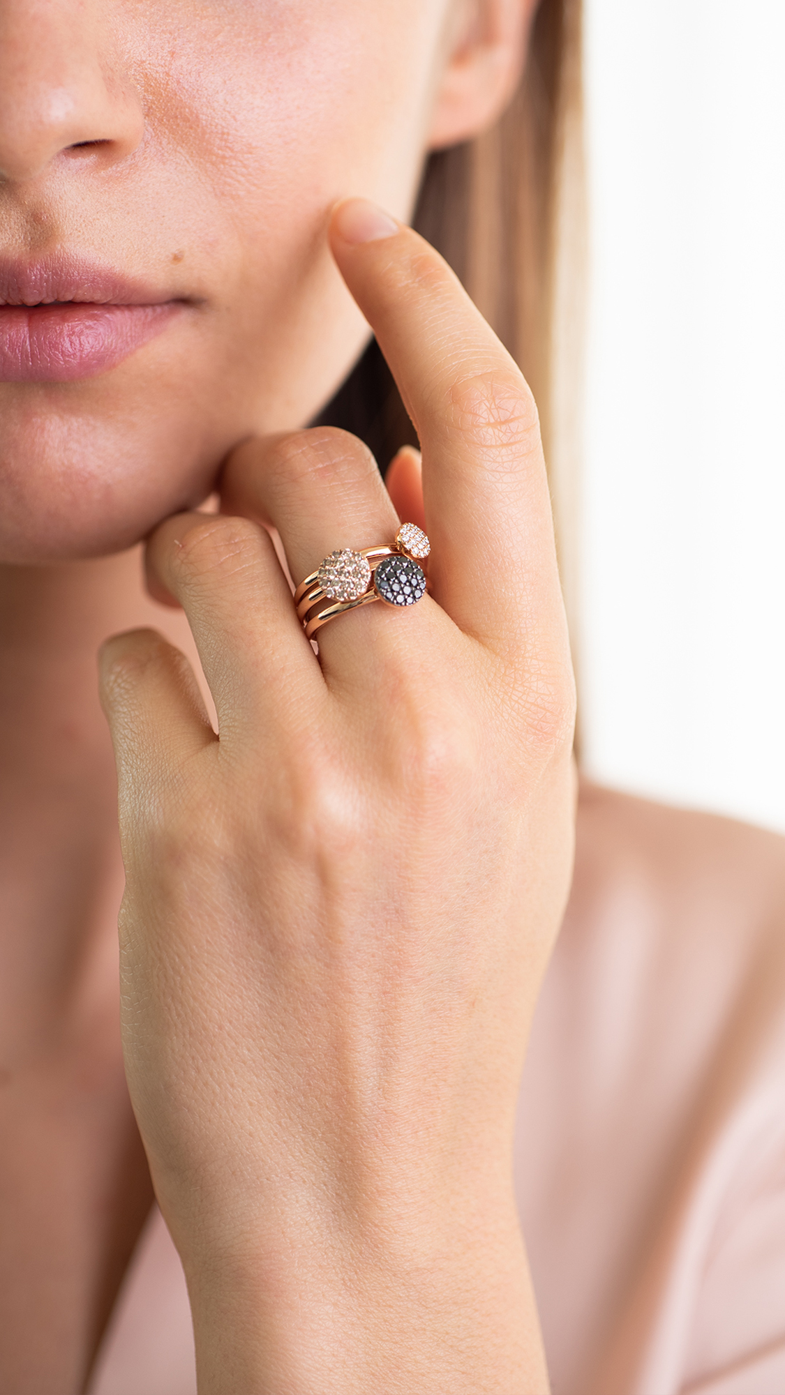 eolo ring in rose gold